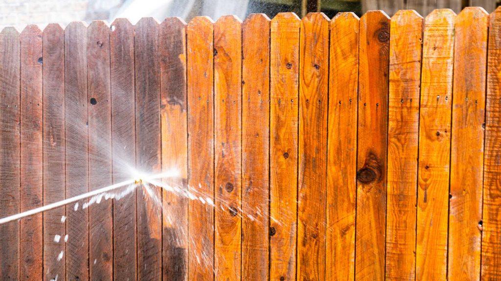 Power Washing A Fence - Fence Pressure Washing