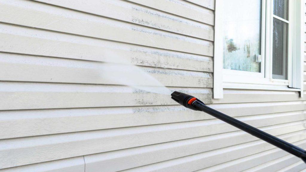 Power Washing Side Of House - House Pressure Washing