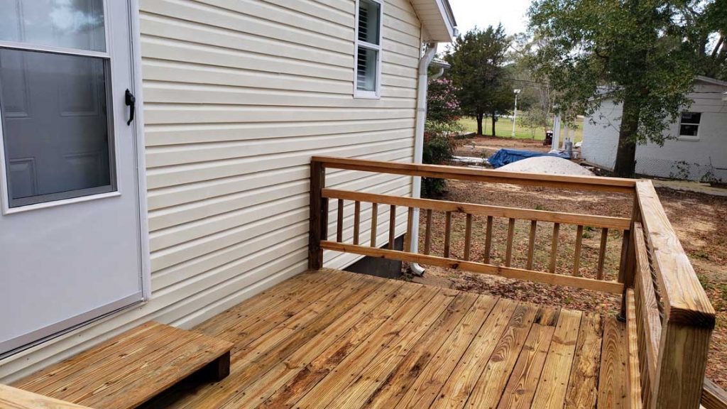 Clean Deck On House - Pressure Washing