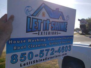 Let It Shine Sign - Pressure Washing - Let It Shine Exteriors