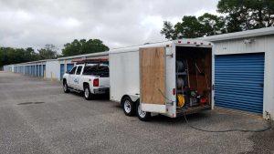 Work Truck And Trailer - Pressure Washing